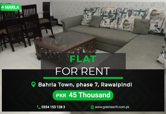 Furnished Flat for Rent Bahria Town Phase 7